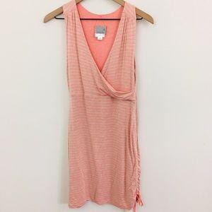 Athleta Pink Faux Wrap Ruched Dress